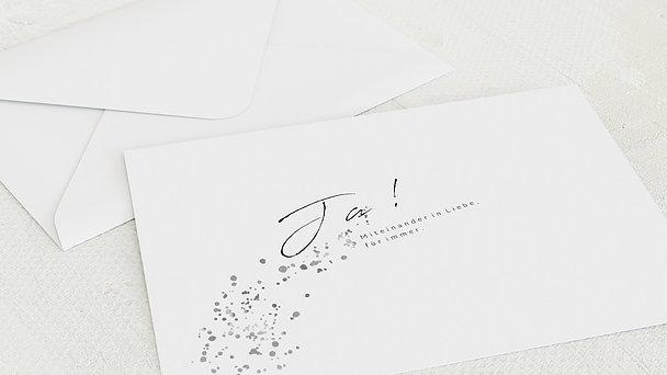 Umschlag mit Design Silberne Hochzeit - Freudensprenkel