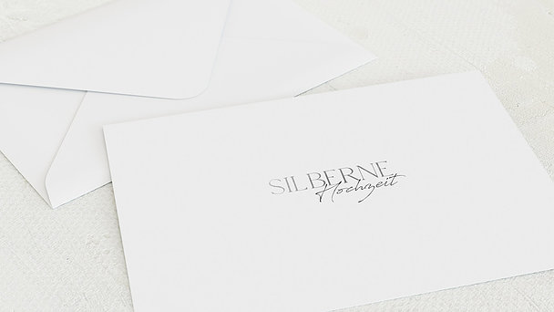 Umschlag mit Design Silberne Hochzeit - Silbermassiv