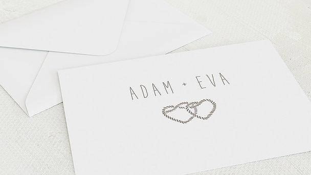 Umschlag mit Design Silberne Hochzeit - Silberknoten