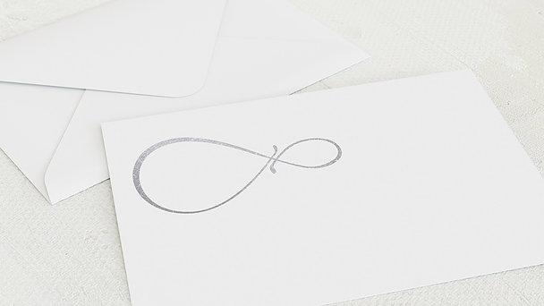 Umschlag mit Design Silberne Hochzeit - Unendlich Liebevolle 25 Jahre