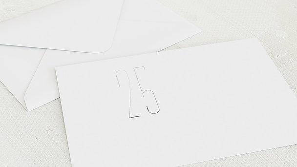 Umschlag mit Design Silberne Hochzeit - Silberkunst