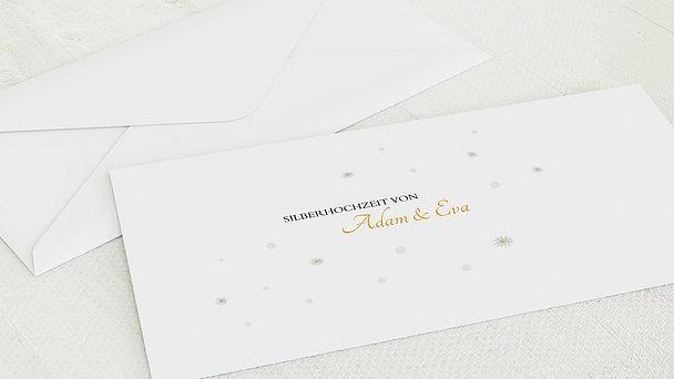 Umschlag mit Design Silberne Hochzeit - Margeritengarten
