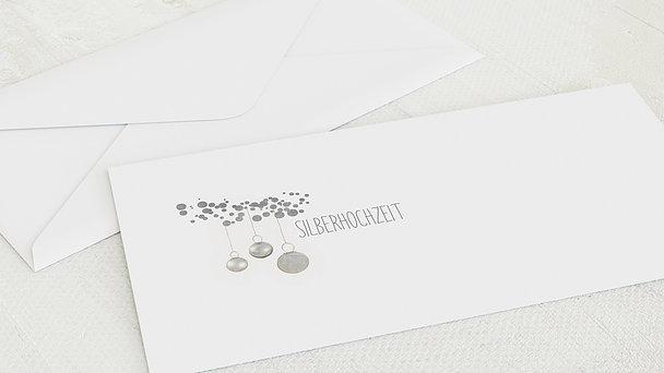 Umschlag mit Design Silberne Hochzeit - Luminaria silber