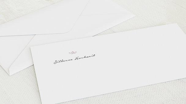Umschlag mit Design Silberne Hochzeit - 25 Jahre Herzklopfen