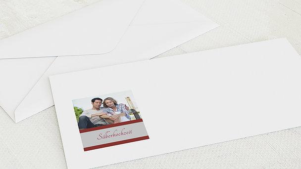 Umschlag mit Design Silberne Hochzeit - Ja, ich will