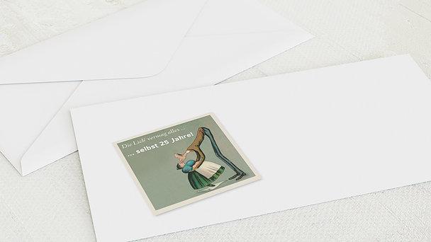 Umschlag mit Design Silberne Hochzeit - Spannenlanger Hansel