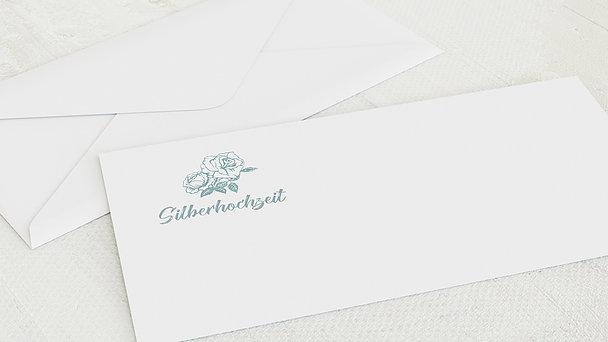 Umschlag mit Design Silberne Hochzeit - Ankündigung