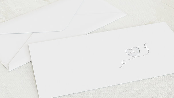 Umschlag mit Design Silberne Hochzeit - Leichte Silberhochzeit