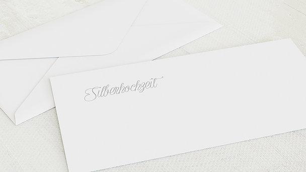 Umschlag mit Design Silberne Hochzeit - Silberlicht