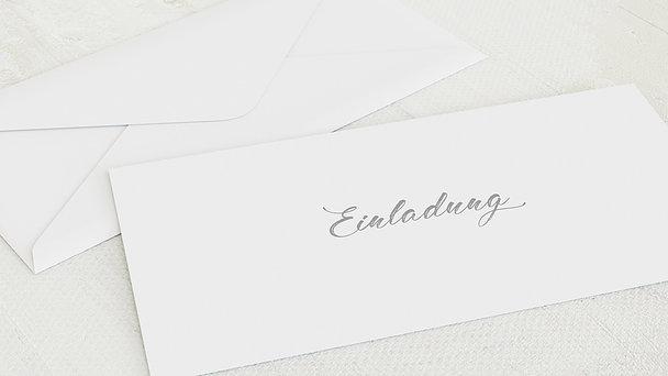 Umschlag mit Design Silberne Hochzeit - Schrifteleganz
