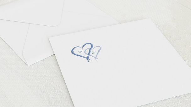 Umschlag mit Design Silberne Hochzeit - Mein Herz