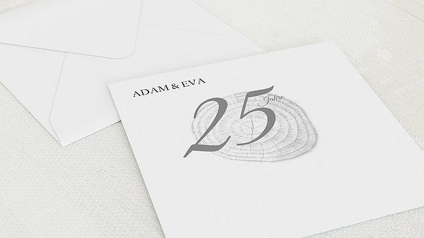 Umschlag mit Design Silberne Hochzeit - Baumringe