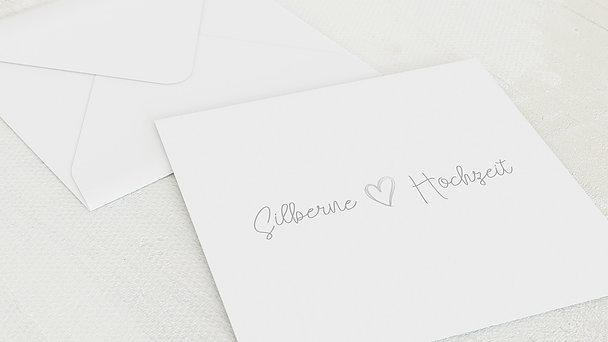 Umschlag mit Design Silberne Hochzeit - Herz über Kopf