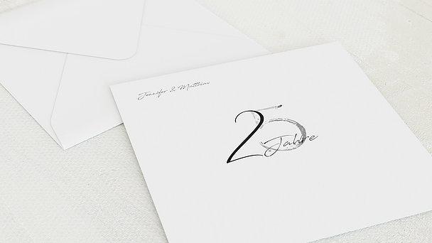 Umschlag mit Design Silberne Hochzeit - Liebesspur