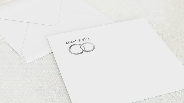 Umschlag mit Design Silberne Hochzeit - Edles Silber