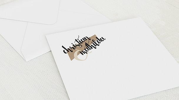Umschlag mit Design Silberne Hochzeit - Silberne Ziellinie