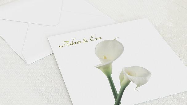 Umschlag mit Design Silberne Hochzeit - Blume der Liebe