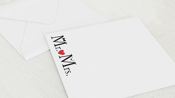 Umschlag mit Design Silberne Hochzeit - Mr & Mrs