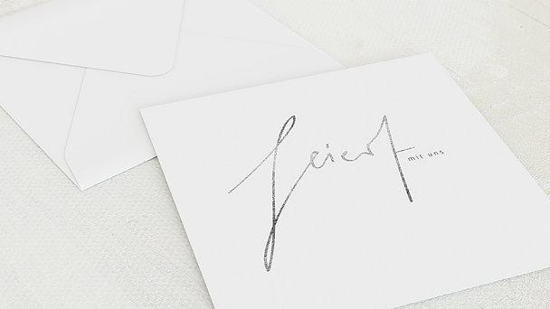 Umschlag mit Design Silberne Hochzeit - Silbertag