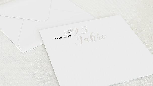 Umschlag mit Design Silberne Hochzeit - Luftsprung für 25 Jahre