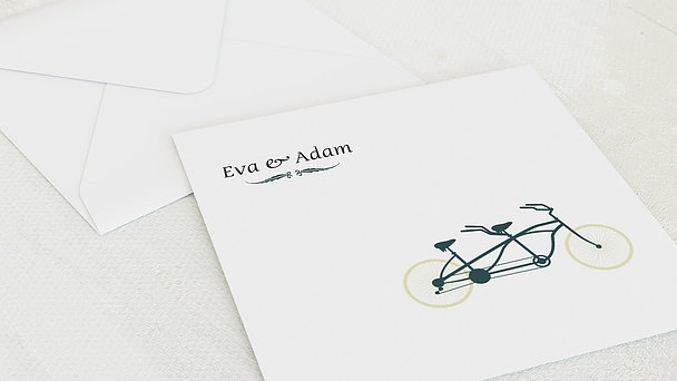 Umschlag mit Design Silberne Hochzeit - Tandem