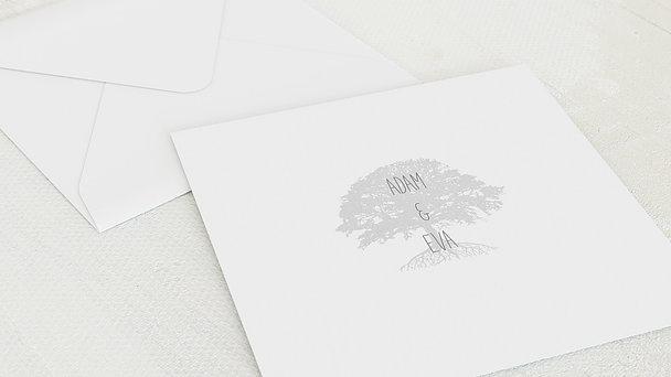 Umschlag mit Design Silberne Hochzeit - Silberner Stammbaum