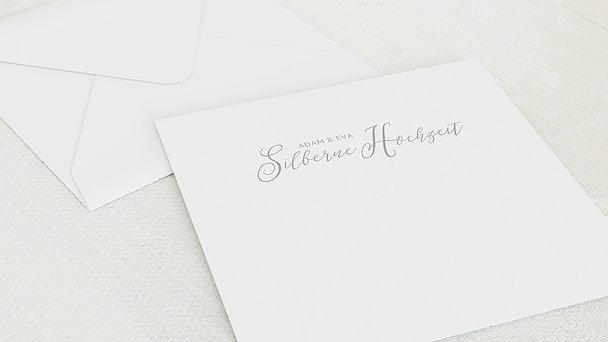 Umschlag mit Design Silberne Hochzeit - 25 Jahre Bestimmung
