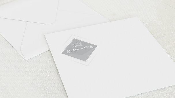 Umschlag mit Design Silberne Hochzeit - Facettenreiche 25 Jahre