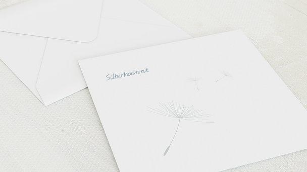 Umschlag mit Design Silberne Hochzeit - Löwenzahn