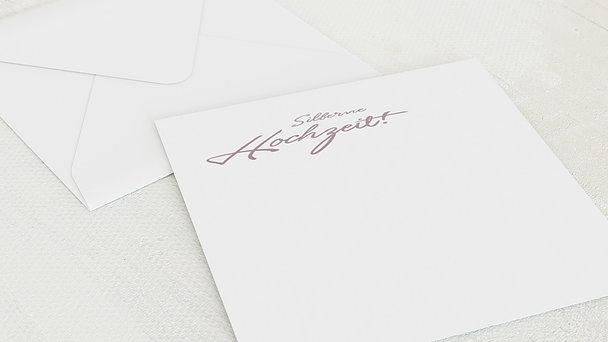 Umschlag mit Design Silberne Hochzeit - Silberweg