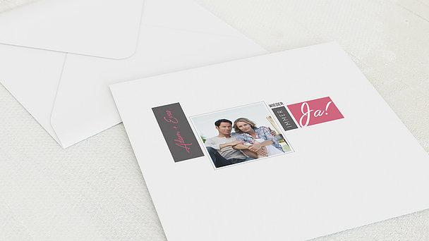 Umschlag mit Design Silberne Hochzeit - Love Story