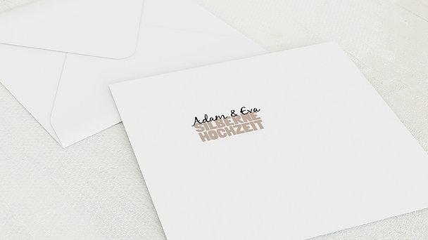 Umschlag mit Design Silberne Hochzeit - Liebe durch und durch