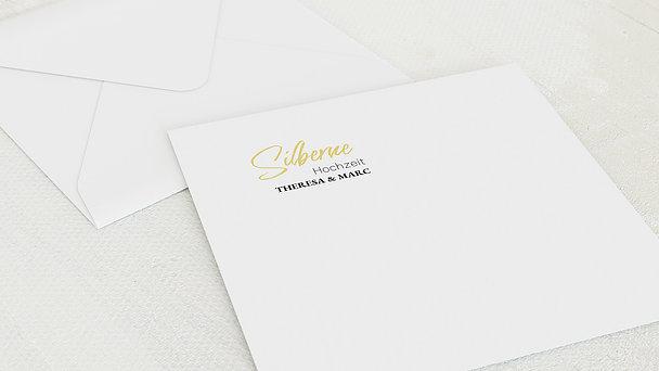 Umschlag mit Design Silberne Hochzeit - Silberglück