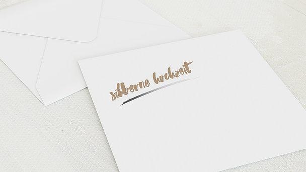 Umschlag mit Design Silberne Hochzeit - Silberne Kontraste
