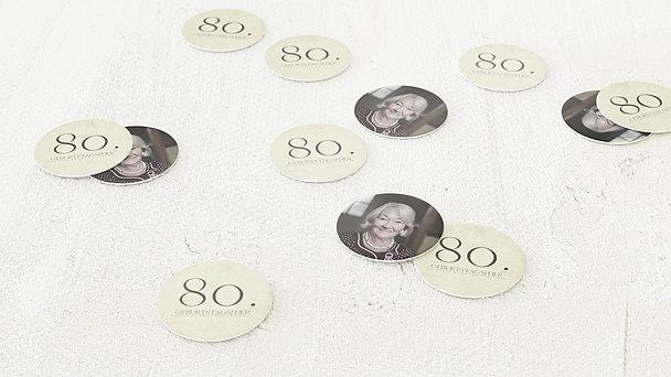 Konfetti Streudeko Geburtstag - Jung geblieben 80