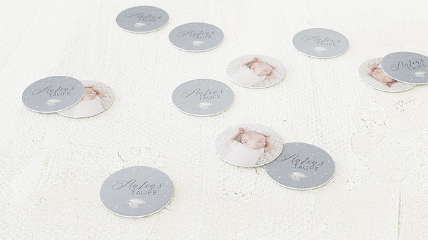 Konfetti Streudeko Taufe - Blütenspiegel