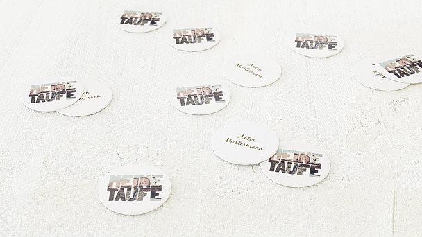 Konfetti Streudeko Taufe - Taufe Fototext