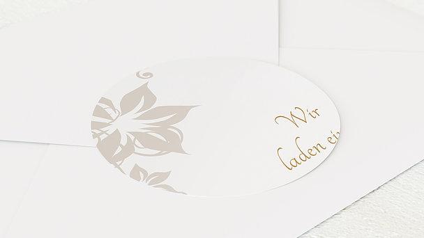 Umschlagssiegel - Weiße Hochzeit
