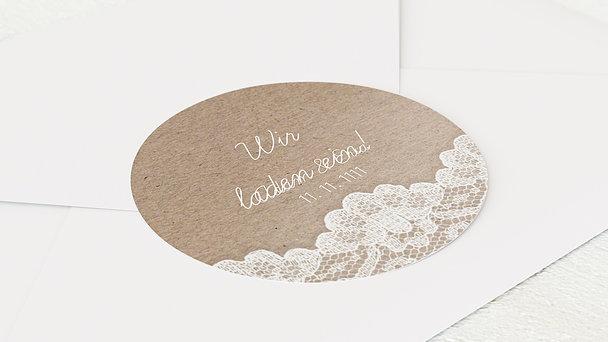 Umschlagssiegel - Hochzeitsspitze