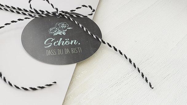 Geschenkanhänger - Ankündigung