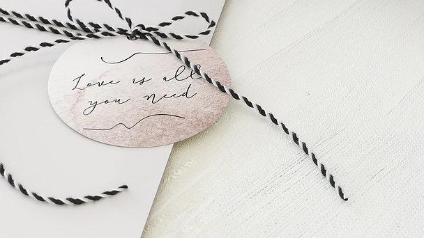 Geschenkanhänger - Liebe genügt