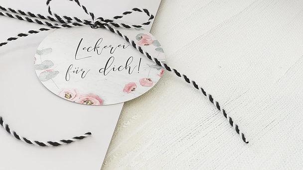Geschenkanhänger - Pastellblüten
