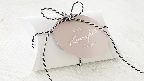 Geschenkanhänger - Liebeswimpel