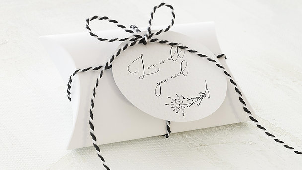 Geschenkanhänger - Knospen der Liebe