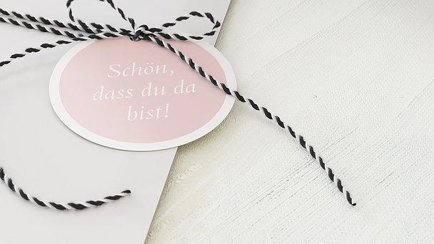 Geschenkanhänger - Hochzeitscollage
