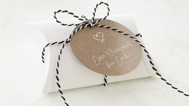 Geschenkanhänger - Unendlich verliebt