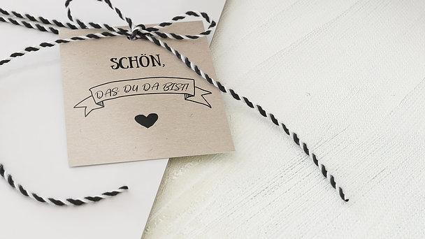 Geschenkanhänger - Kraftpapier