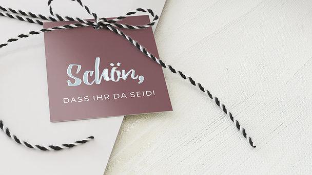 Geschenkanhänger - Verliebt, verlobt