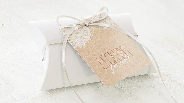 Geschenkanhänger - Pastellspitze
