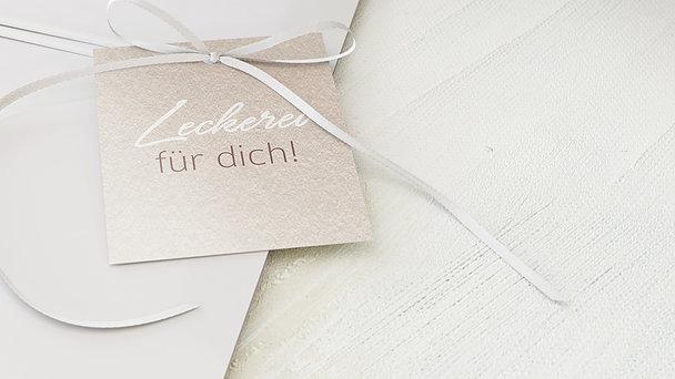 Geschenkanhänger - Weicher Glanz
